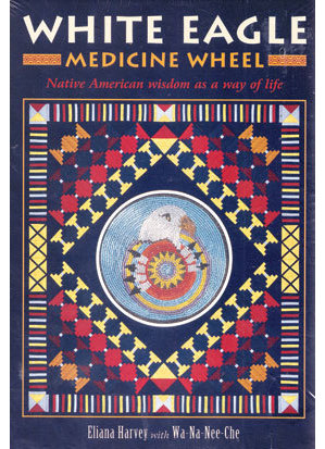White Eagle Medicine Wheel (dk & bk) by Eliana Harvey