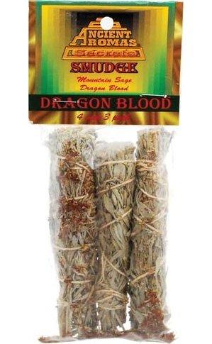 """Dragon's Blood Smudge Stick 3-Pk 4"""""""