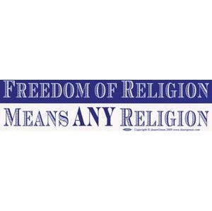 Freedom Of Religion Means