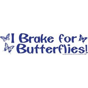 I Brake For Butterflies