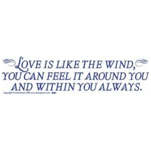 Love Is Like The Wind