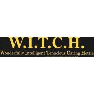 W.I.T.C.H. Bumper Sticker