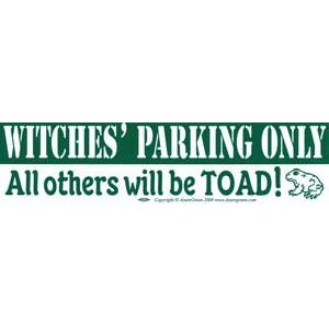 Witches' Parking Only