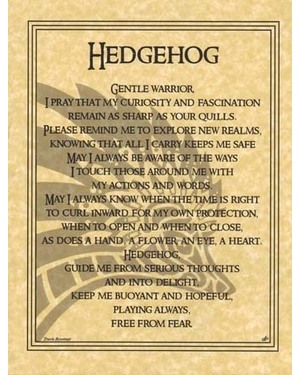 Hedgehog Prayer Poster