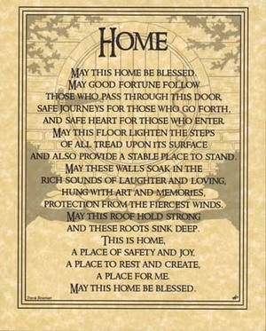 Home Blessing Poster