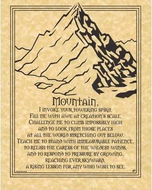 Mountain Prayer Poster