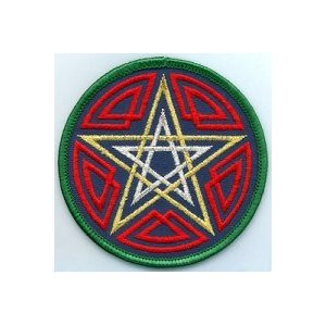 "Celtic Pentagram Patch 3"""