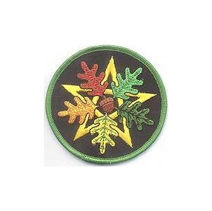 Oak Leaf Pentagram Iron-On Patch 3""