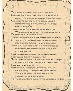 Emerald Tablet Poster