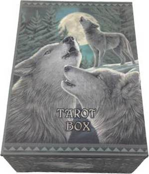 "4"" x 5 1/2"" Wolf Song Tarot Card Box"