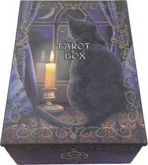 "4"" x 5 1/2"" Black Cat Tarot Card Box"