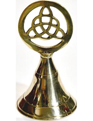 """4"""" Triquetra brass bell"""