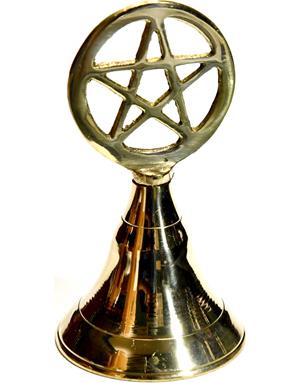 "4"" Pentagram brass bell"