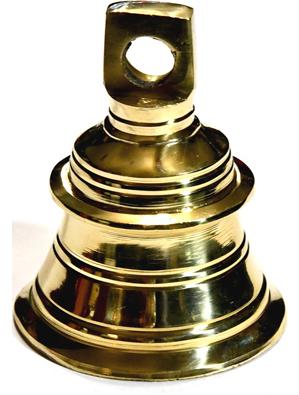 """2 1/4"""" brass Temple bell"""