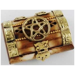 "Pentagram Bone Chest 3"" x 2"""