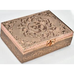"5"" x 7"" Om metal over wood box"