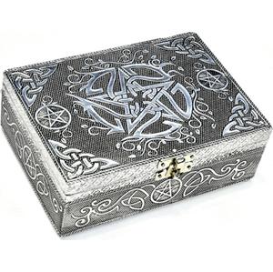 "5"" x 7"" Pentagram metal over wood box"