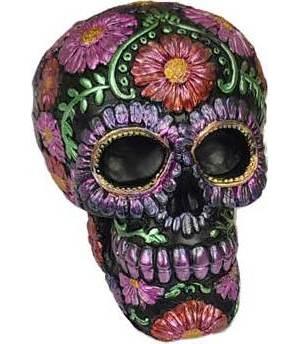 Purple Metallic Skull Bank (medium)