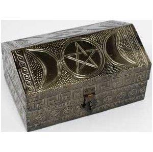 "Triple Moon Pentagram Box 4"" x 6"""