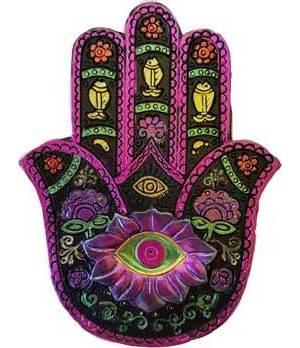 Black & Fuschia Hamsa Hand Box