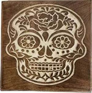 """6"""" x 6"""" Day of the Dead box"""