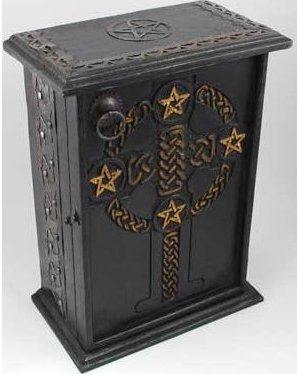 "Pentagram and Celtic Cupboard 11"""