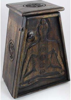 "7 Chakra Wooden Cupboard 11"""