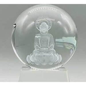 80mm Clear Buddha gazing ball