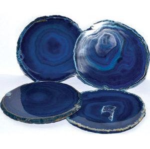 Blue Agate Coaster (set of 4)