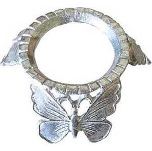 Silver Plated Butterfly crystal ball stand