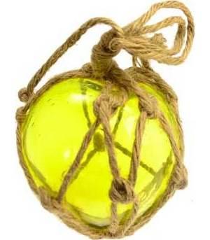 "Yellow Glass Float 5"""