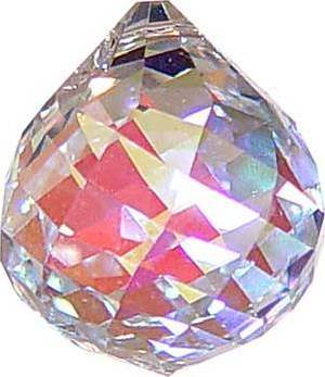 40mm Aura Faceted Crystal Ball