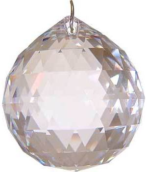 40mm Clear Faceted Crystal Ball