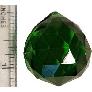 30mm Green Faceted Crystal Ball
