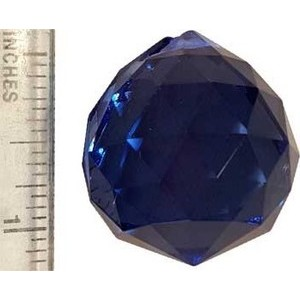 30mm Blue Faceted Crystal Ball