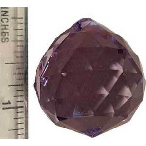30mm Purple Faceted Crystal Ball