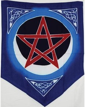 Pentacle Moon Flag