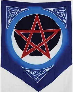 Pentacle Moon Flag