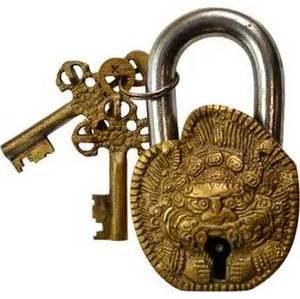 """Tibetan Brass lock 4"""""""