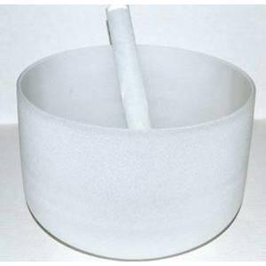 """10"""" Off White Crystal Singing Bowl"""