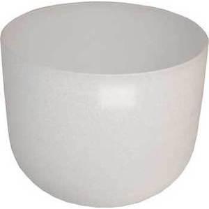 """20"""" White Crystal Singing Bowl"""