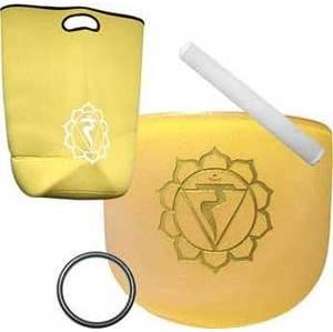 """8"""" Yellow Chakra Crystal Singing Bowl"""
