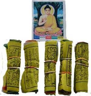 "3"" Tibetan prayer flag (5/pack)"
