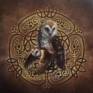 Celtic Owl umbrella