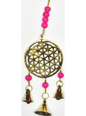 """10"""" Flower of Life wind chime"""