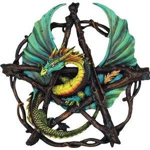 "Forest Pentagram Dragon 13"" Statue"
