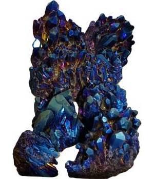 5# Quartz Clusters with Blue Color