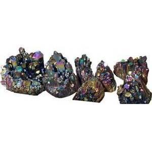 5# Quartz Clusters with Black Color