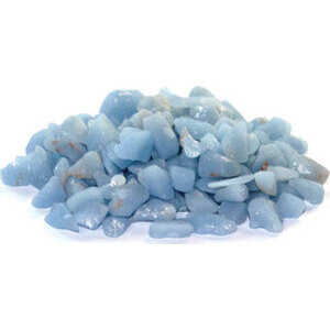 1 lb Angelite tumbled chips 5-7mm