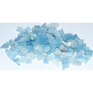 1 lb Aquamarine tumbled chips 6-8mm